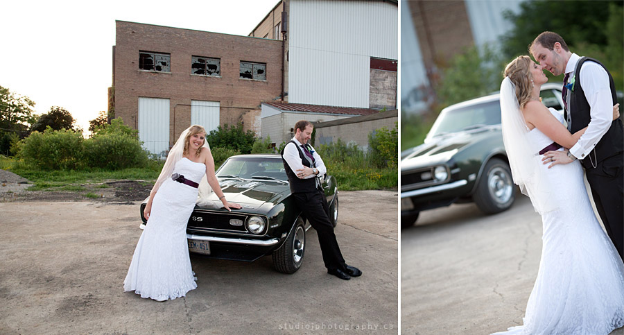 classic car wedding photos