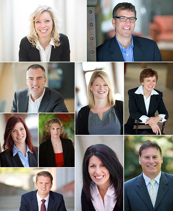 Corporate and Executive headshot collage