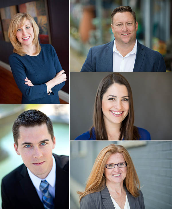 Headshots of realtors servicing the Kitchener Waterloo region